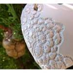 French lace heart XXL- Whit..